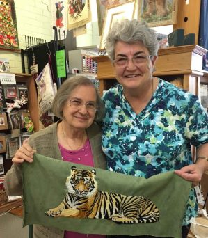 Rosa & Bev and a Tiger